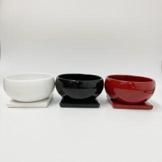インテリア和モダン陶器植木鉢シンプル室内丸型