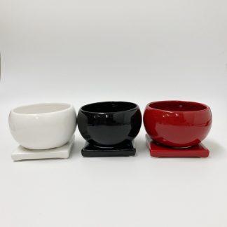 陶器植木鉢シンプル室内丸型受け皿お祝い小さいサイズマット
