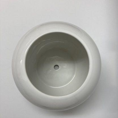 丸型おすすめ植木鉢プランター室内オシャレ陶器斜め上
