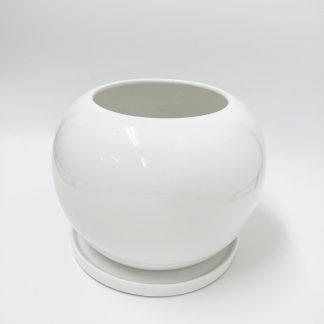 オシャレ陶器丸型植木鉢シンプルモダンかわいい室内