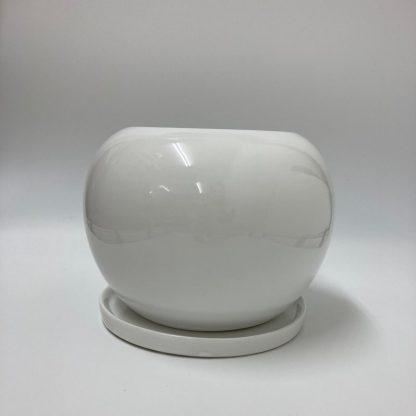 丸型おすすめ植木鉢プランター室内オシャレ陶器正面