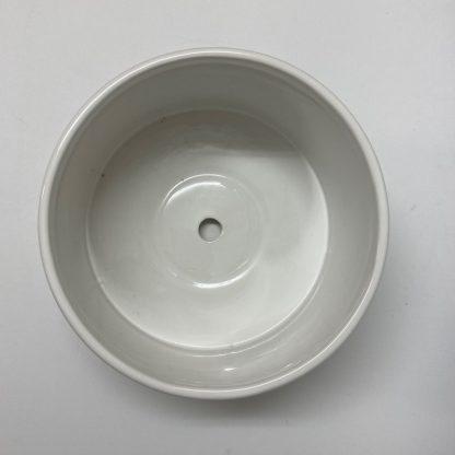 浅鉢ホワイト植木鉢寄せ植えにおすすめ受け皿付き上部