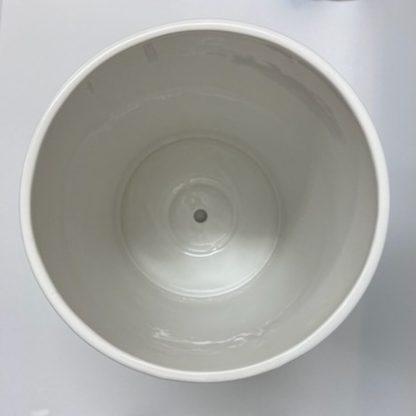 おすすめ円筒形大鉢ホワイト植木鉢上部