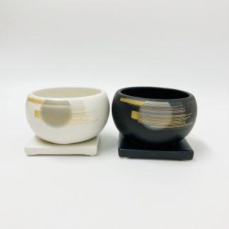 和モダン陶器植木鉢シンプル室内丸型受け皿お祝い小さいサイズマット