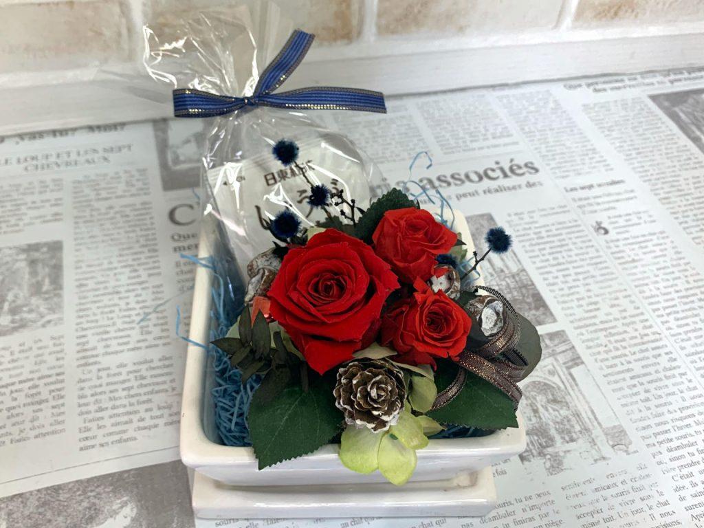 母の日のギフト薔薇の植木鉢