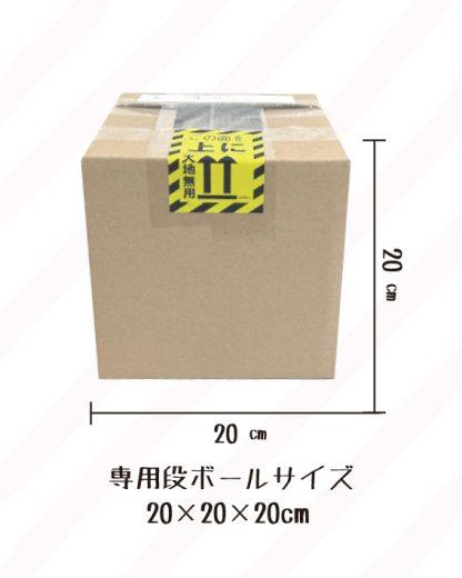 安心安全な梱包サイズ20㎝
