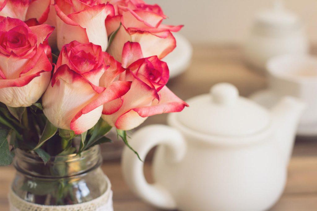 バラとBoh紅茶