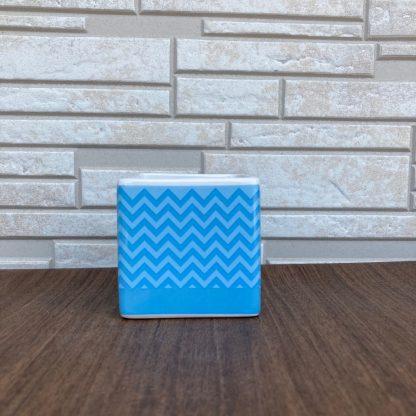 スクエア陶器鉢小物入れ伝統模様水色青人気のアニメグッツ